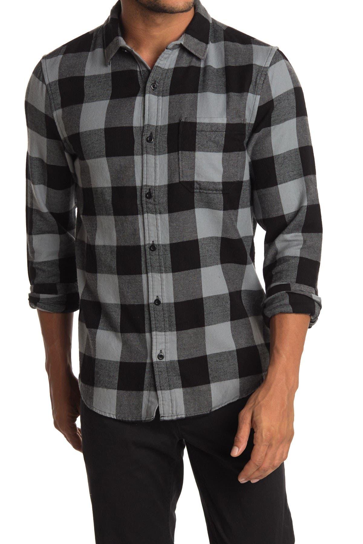 Image of Public Opinion Bufflo Plaid Flannel Shirt