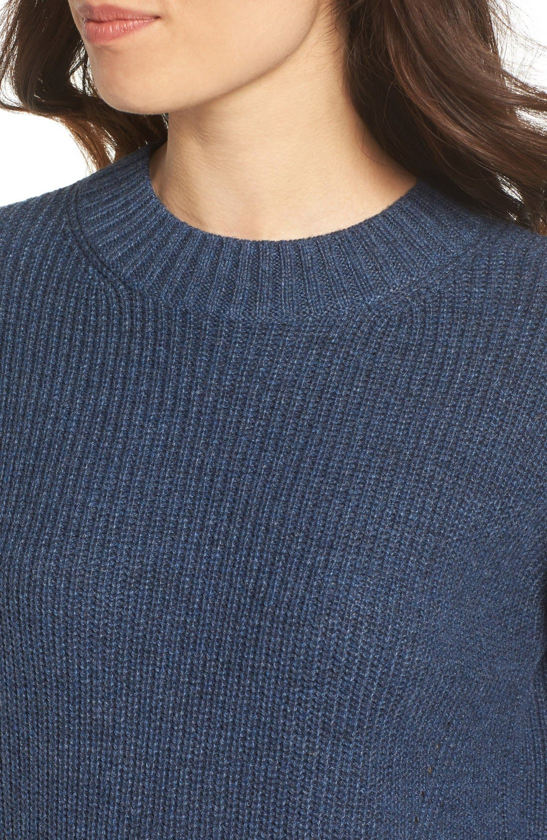 ,                             Ribbed Mock Neck Pullover,                             Alternate thumbnail 20, color,                             401