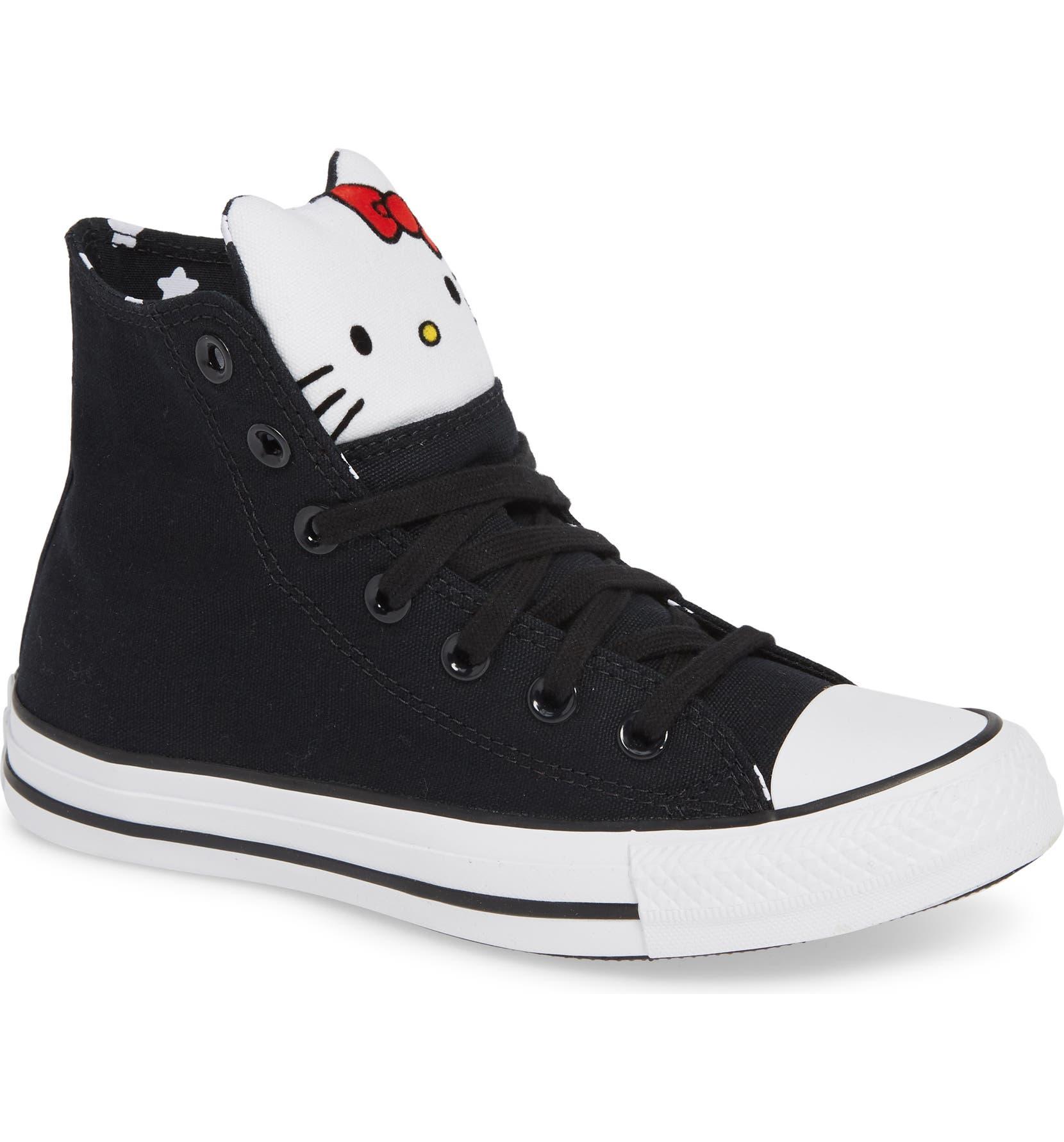 de7fd750b97 Converse x Hello Kitty® Chuck Taylor® All Star® High Top Sneaker (Women) |  Nordstrom