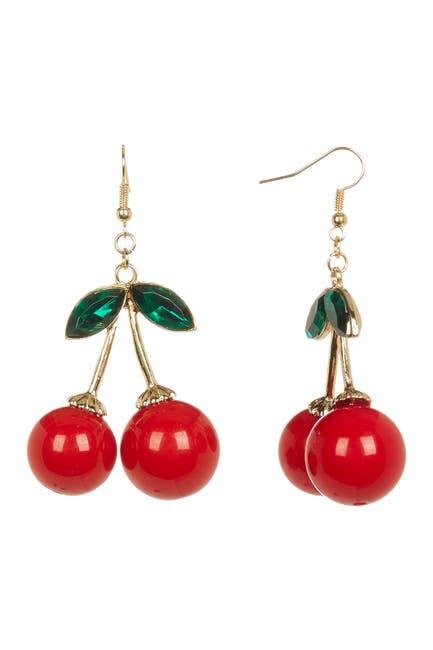 Image of Eye Candy Los Angeles Cherry Bomb Dangle Earrings