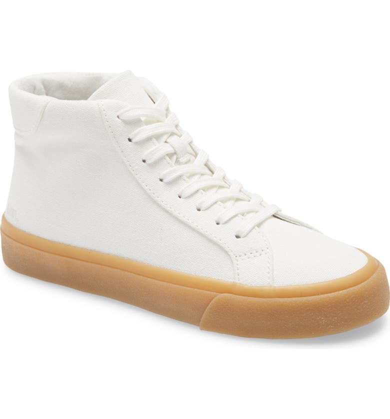 MADEWELL Sidewalk High Top Sneakers in Recycled Canvas, Main, color, PALE PARCHMENT