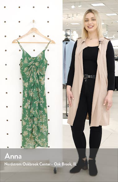 Sleeveless Ruched High/Low Dress, sales video thumbnail