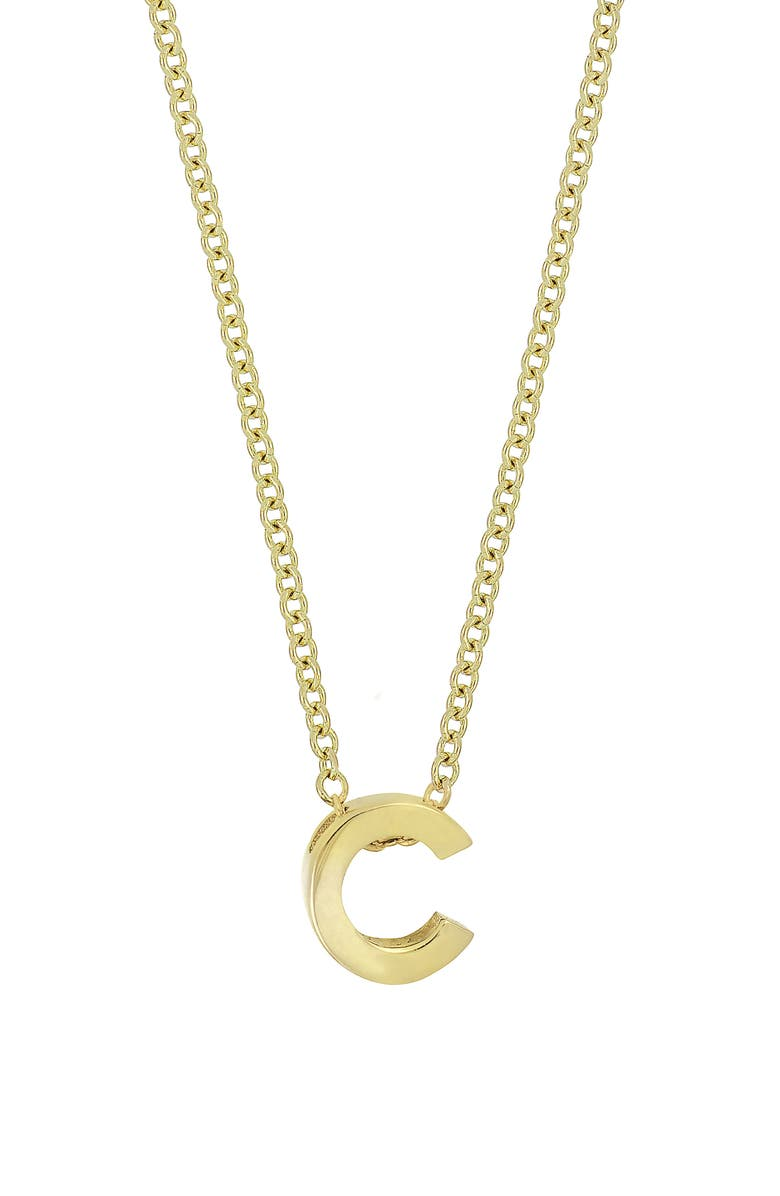 BONY LEVY Initial Pendant Necklace, Main, color, YELLOW GOLD- C