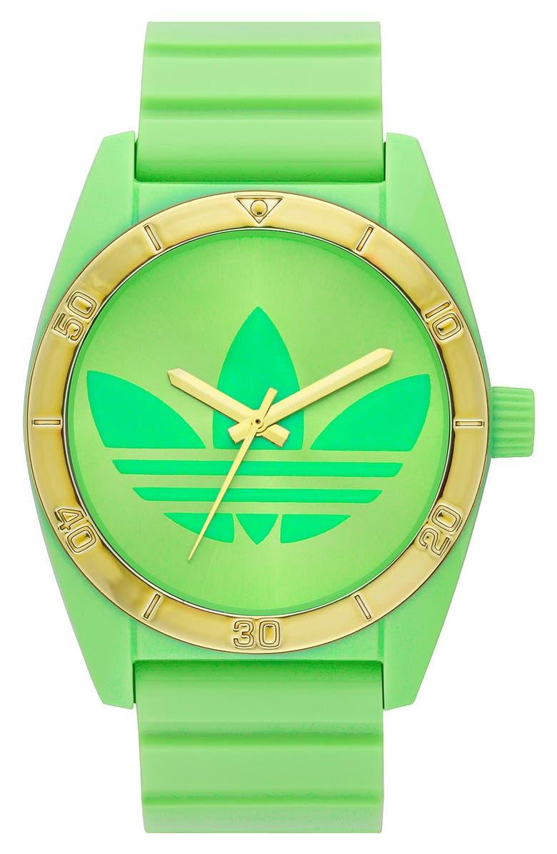 ADIDAS ORIGINALS 'Santiago' Neon Watch, 42mm, Main, color, 300