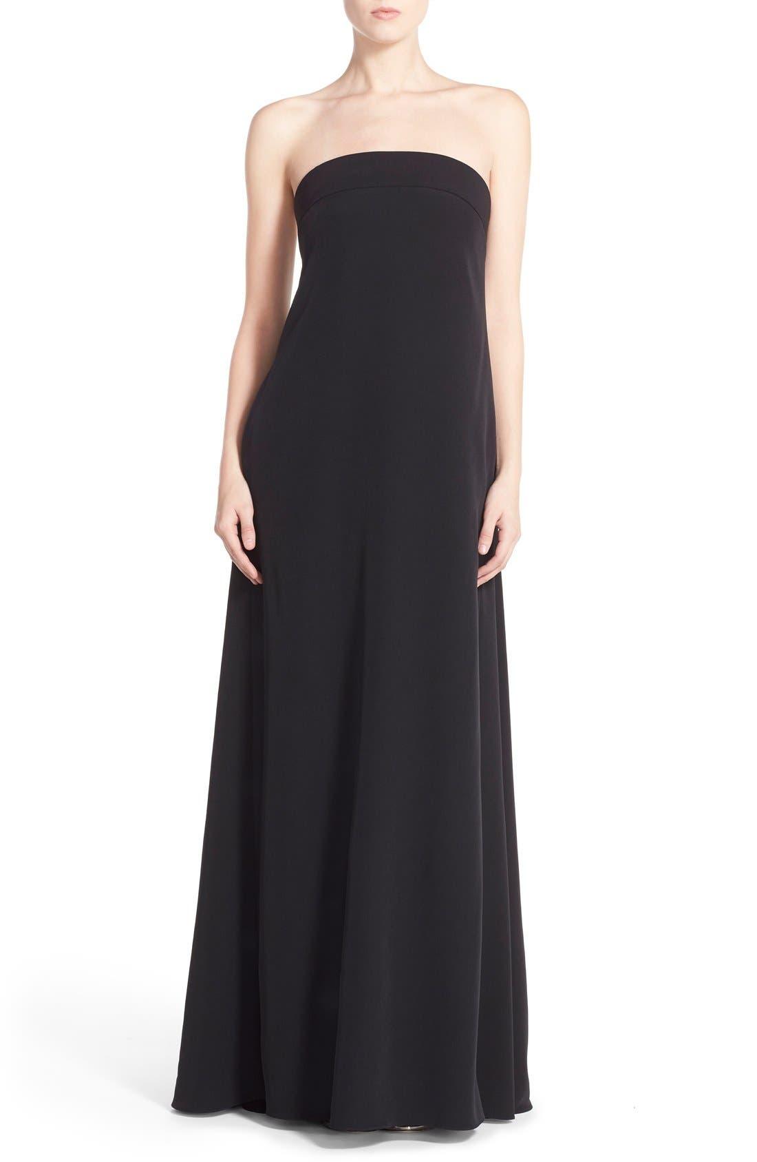 ,                             'Vanessa' Strapless Maxi Dress,                             Main thumbnail 1, color,                             001