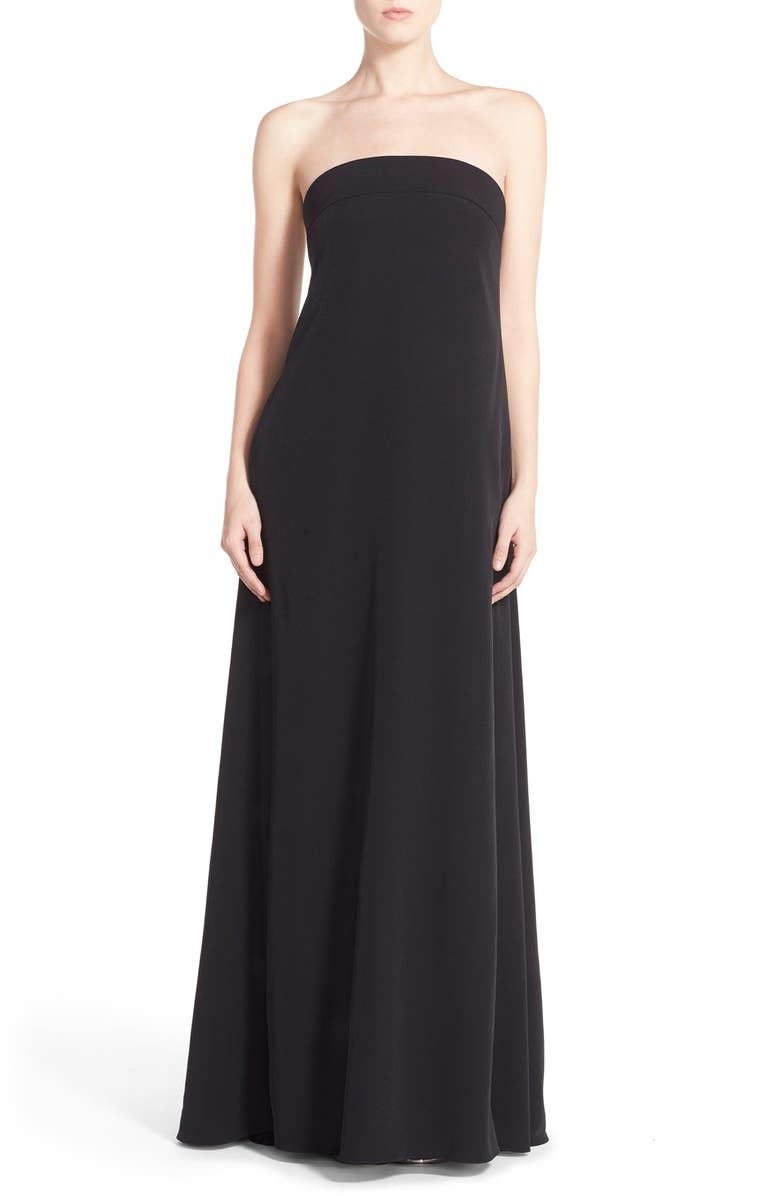 MILLY 'Vanessa' Strapless Maxi Dress, Main, color, 001