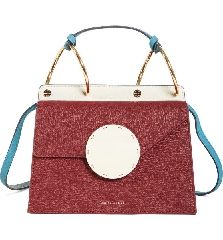 DANSE LENTE Phoebe Bis Acetate Closure Crossbody Bag, Main, color, SYRUP/ TEAL