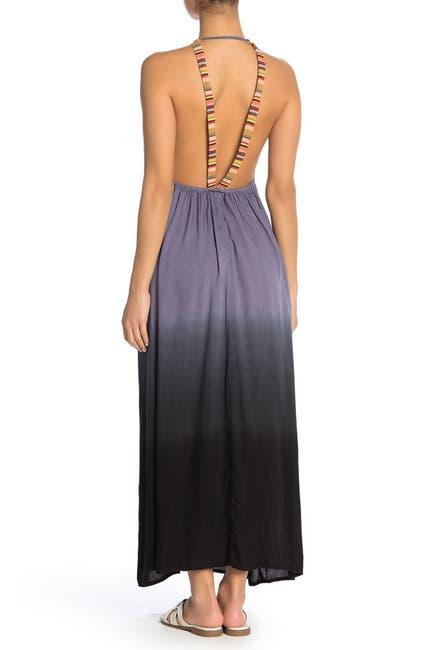 Image of BOHO ME Rainbow Strap Ombre Maxi Dress
