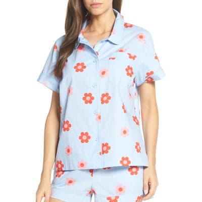 Ban. do Retro Daisy Pajama Top, Blue