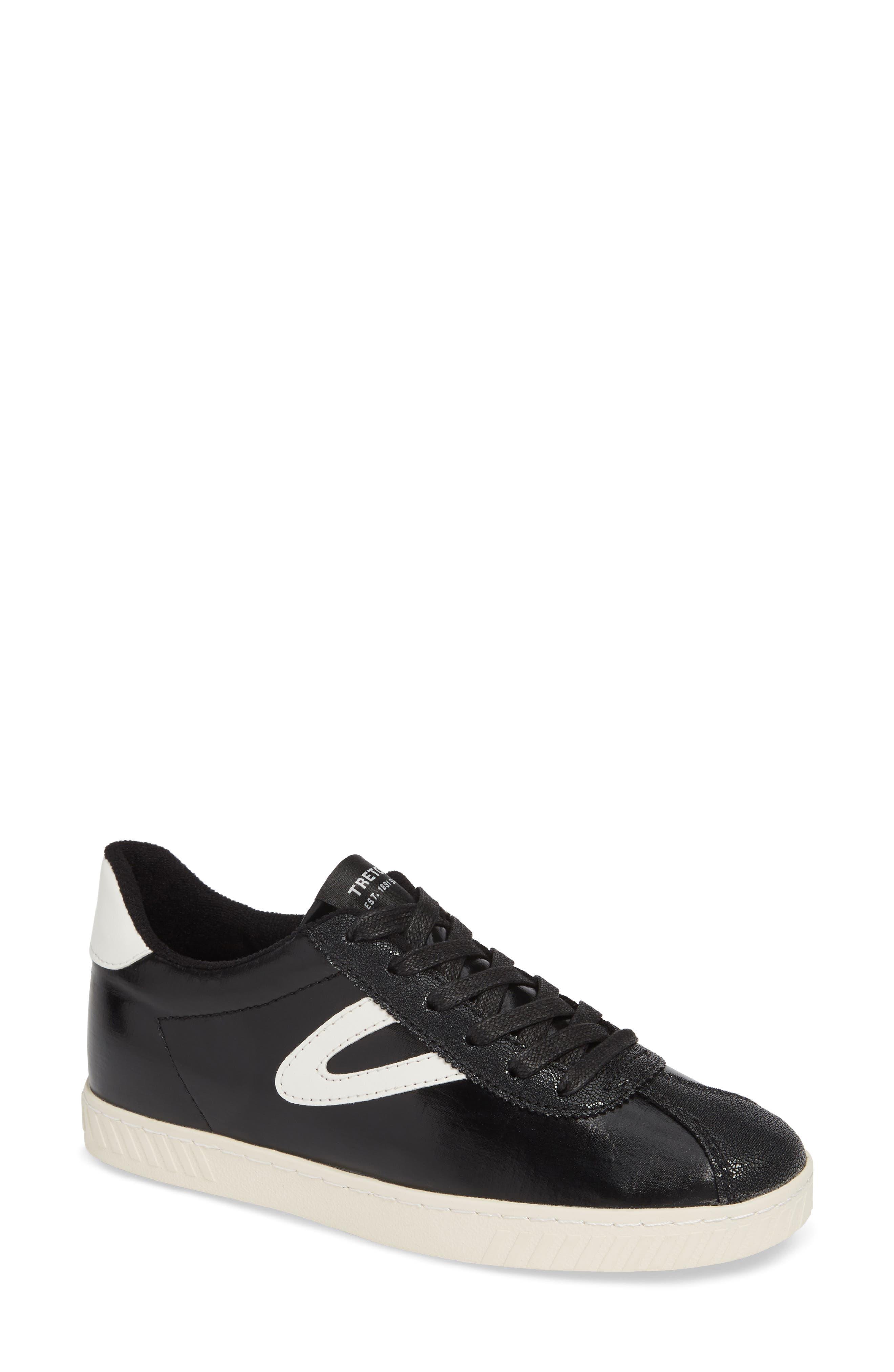 Callie 5 Sneaker, Main, color, BLACK/ VINTAGE WHITE FABRIC