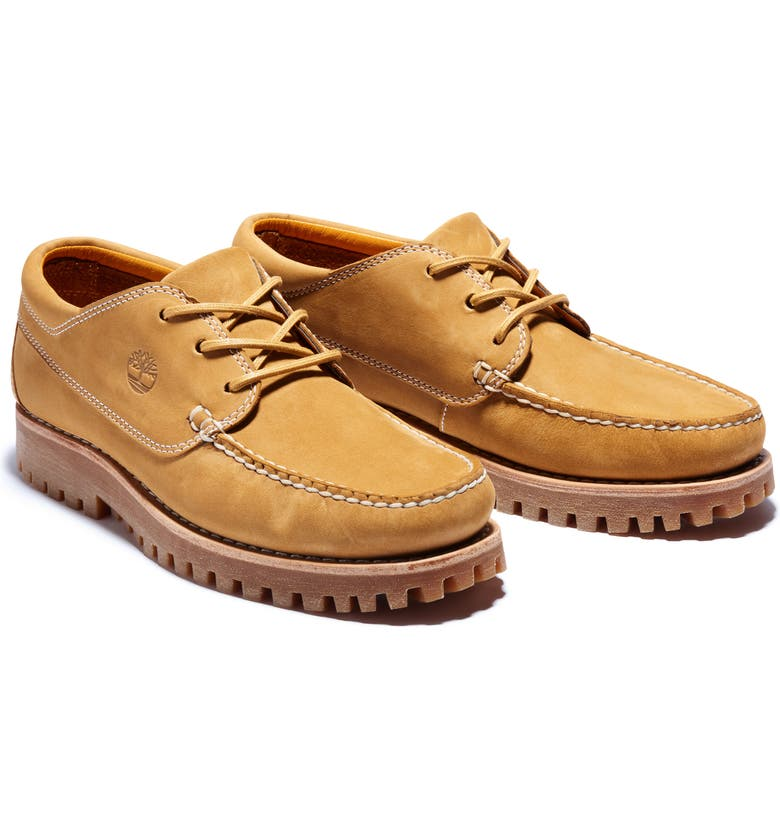 TIMBERLAND Jackson's Landing Moc Toe Derby, Main, color, WHEAT NUBUCK
