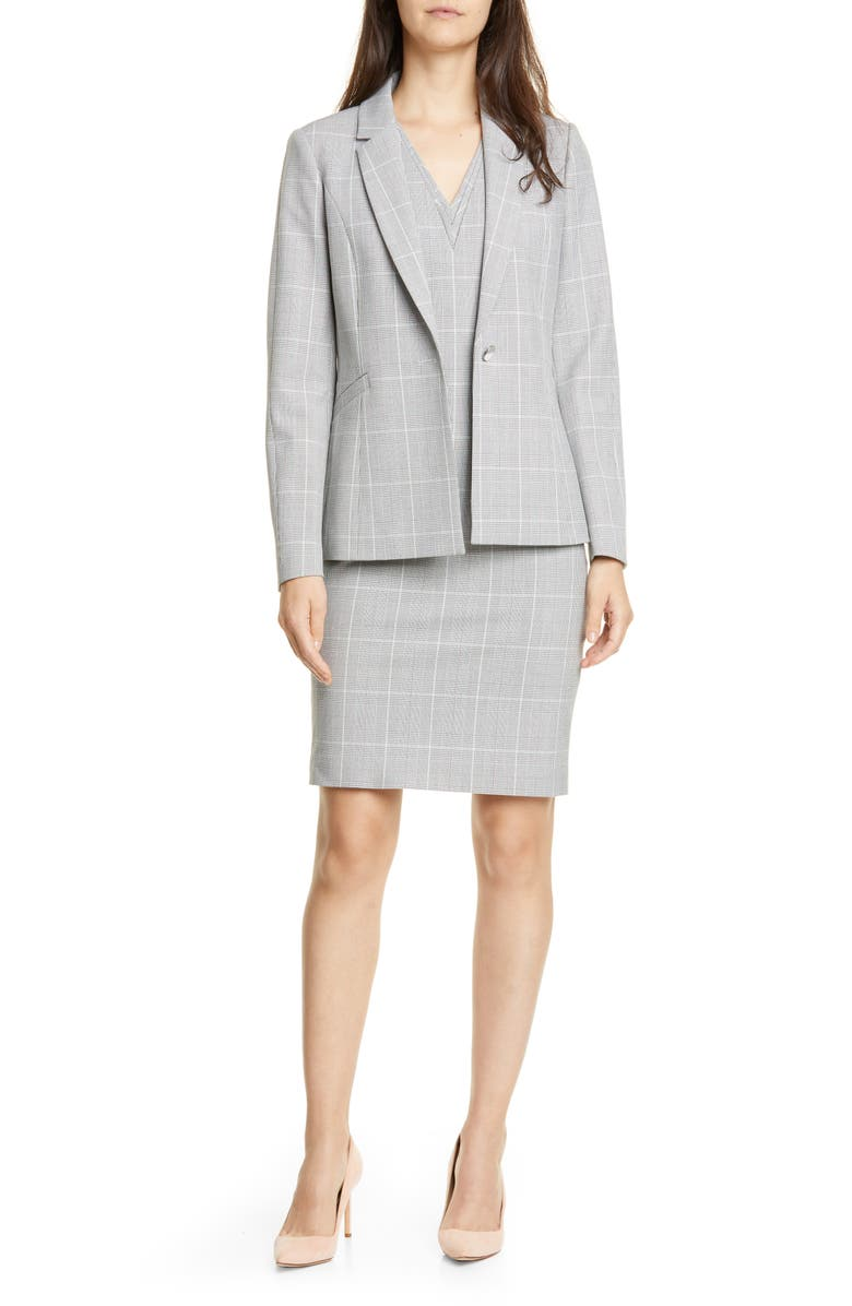Avril Contrast Check Jacket by Ted Baker London