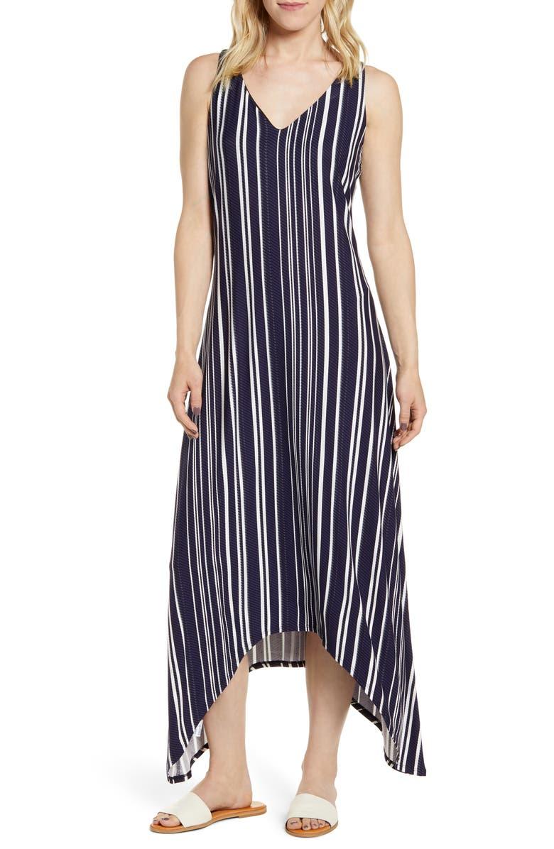TOMMY BAHAMA Anoche Stripe Maxi Dress, Main, color, BLACK