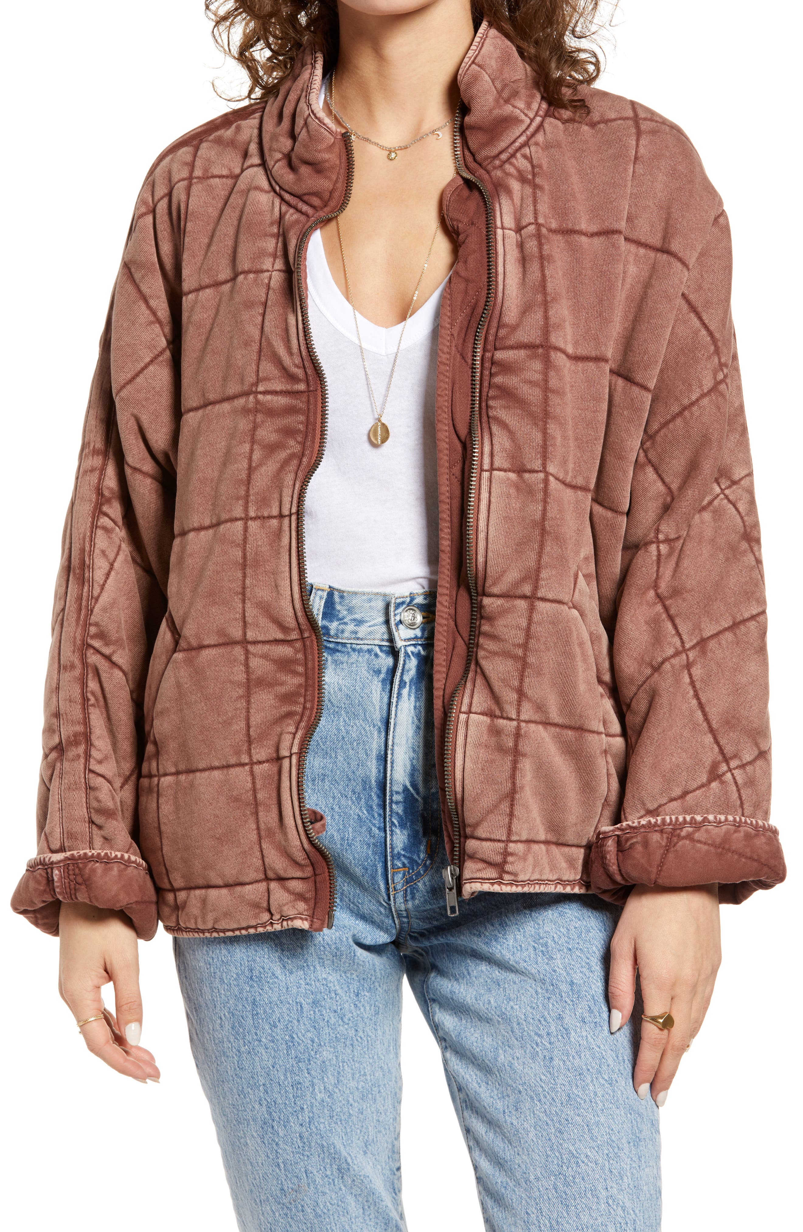 Dolman Sleeve Quilted Jacket