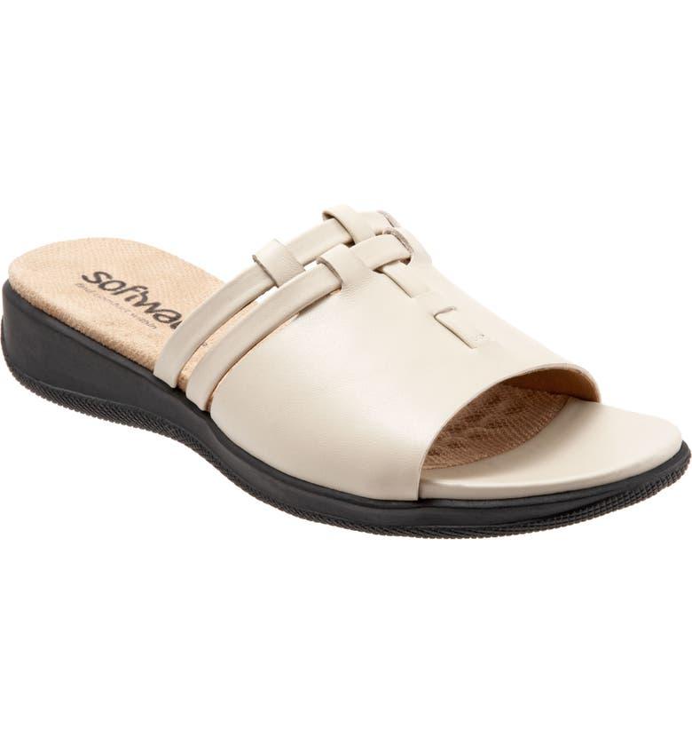 SOFTWALK<SUP>®</SUP> Tahoma Woven Slide Sandal, Main, color, BONE LEATHER