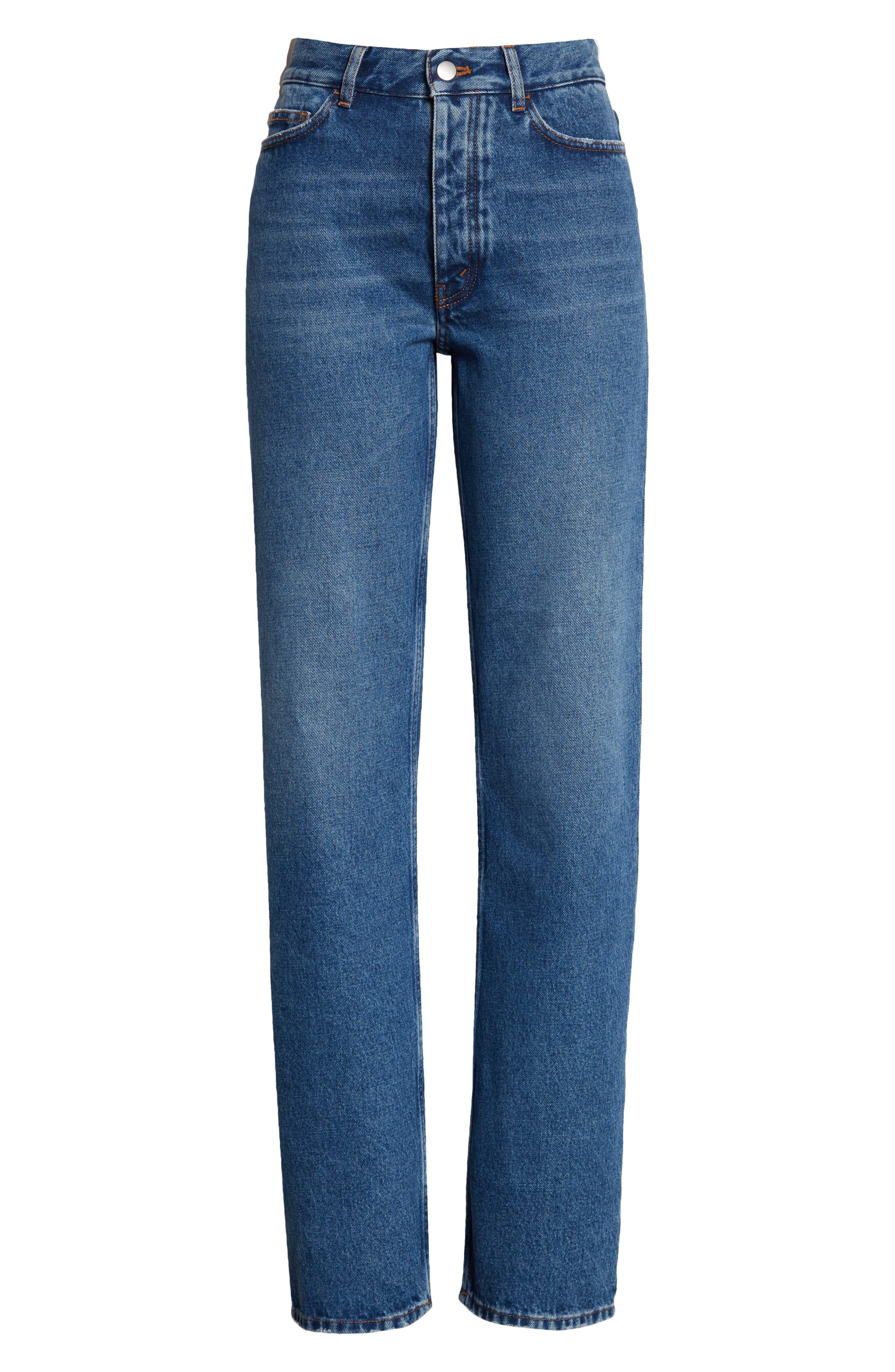 High Waist Straight Leg Boyfriend Jeans