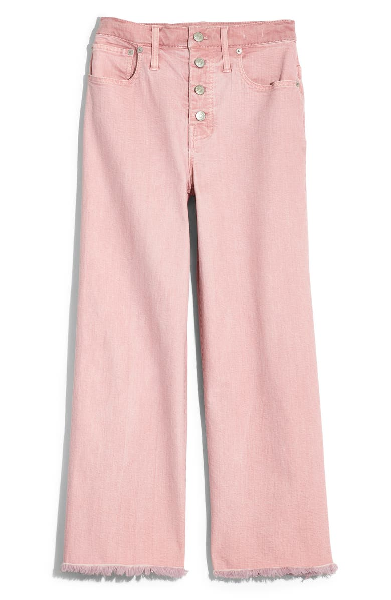 MADEWELL Garment Washed Edition Wide Leg Crop Jeans, Main, color, DREAMY PINK