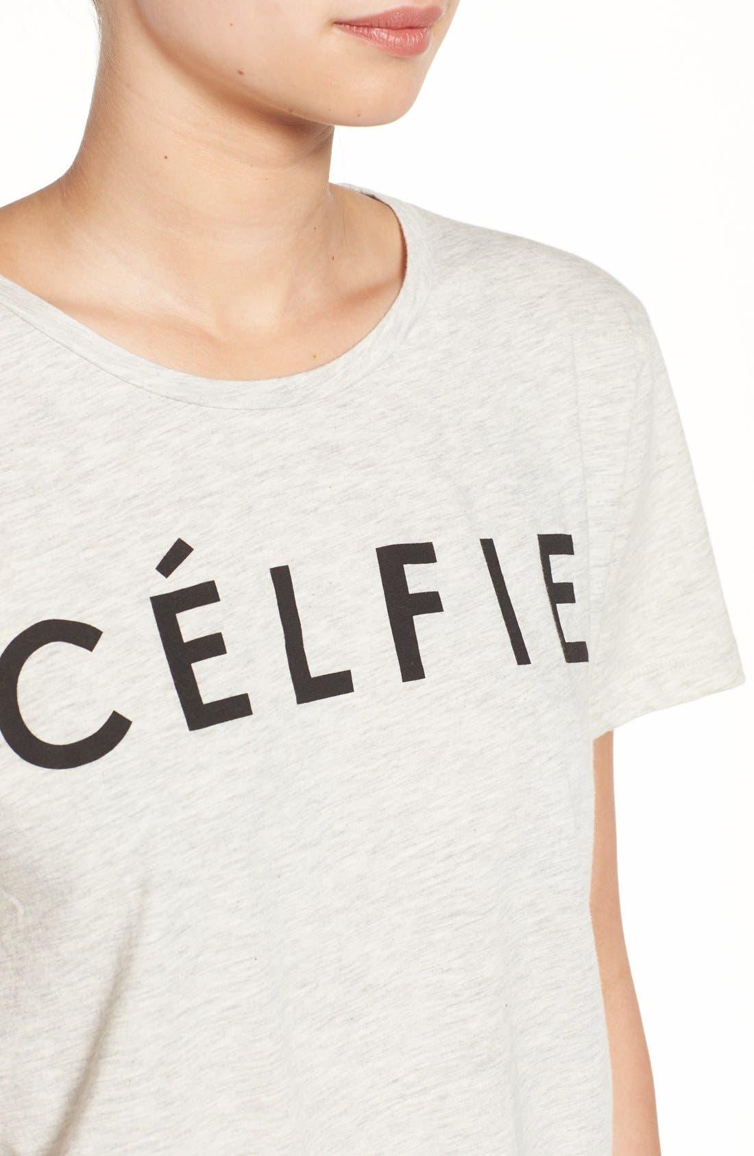 ,                             'Célfie' Graphic Tee,                             Alternate thumbnail 11, color,                             020