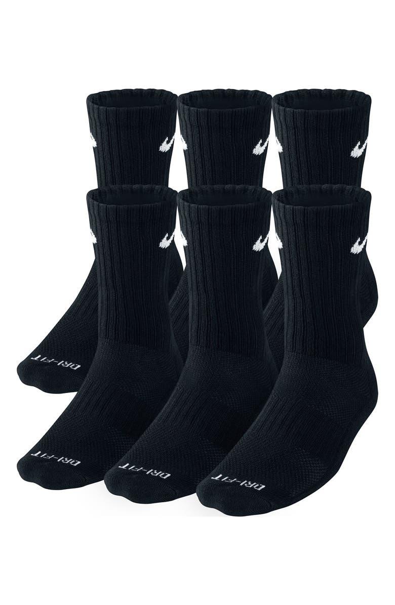NIKE Dri-FIT Crew Socks, Main, color, 001