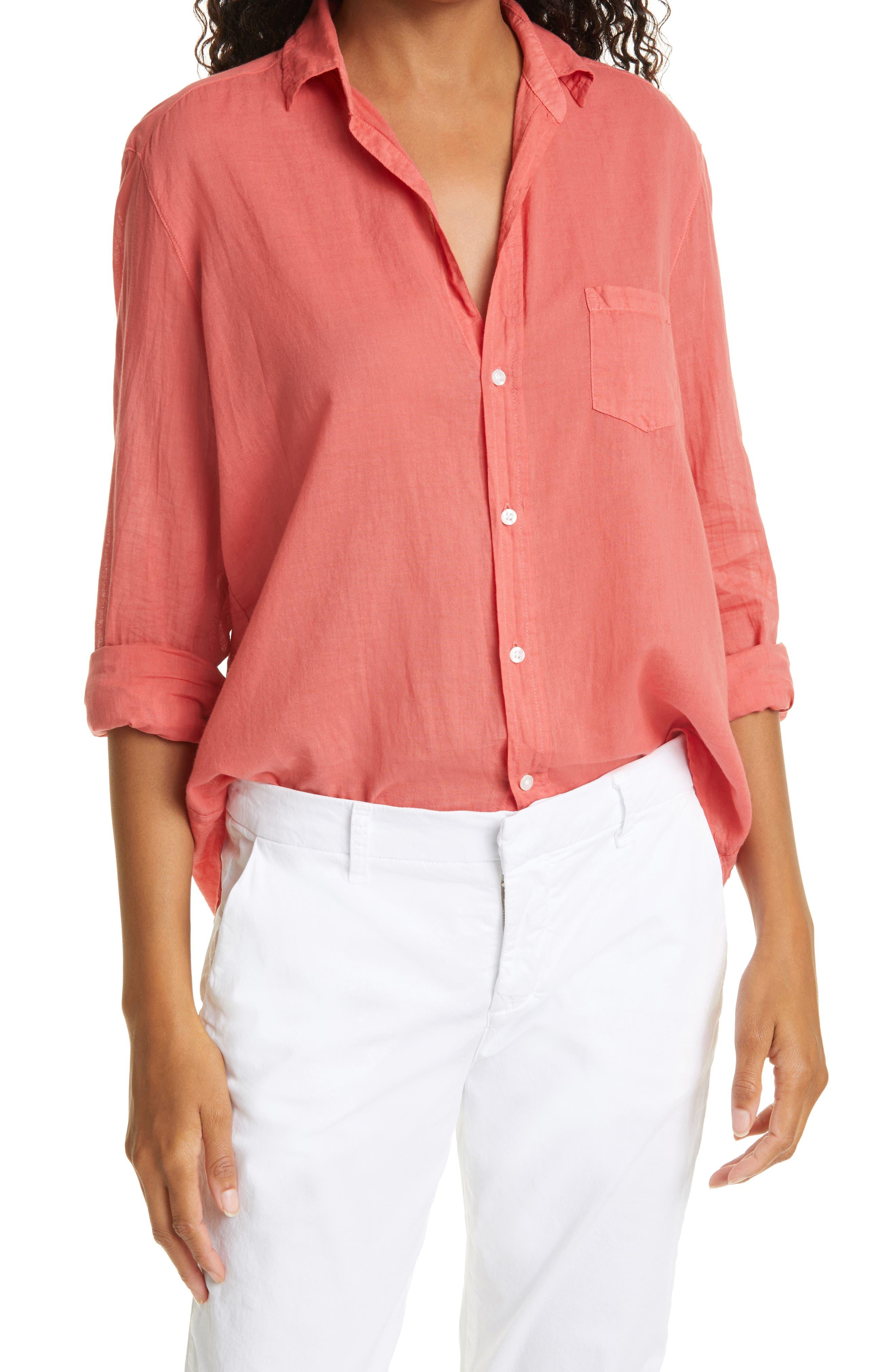 Cotton Woven Button-Up Shirt