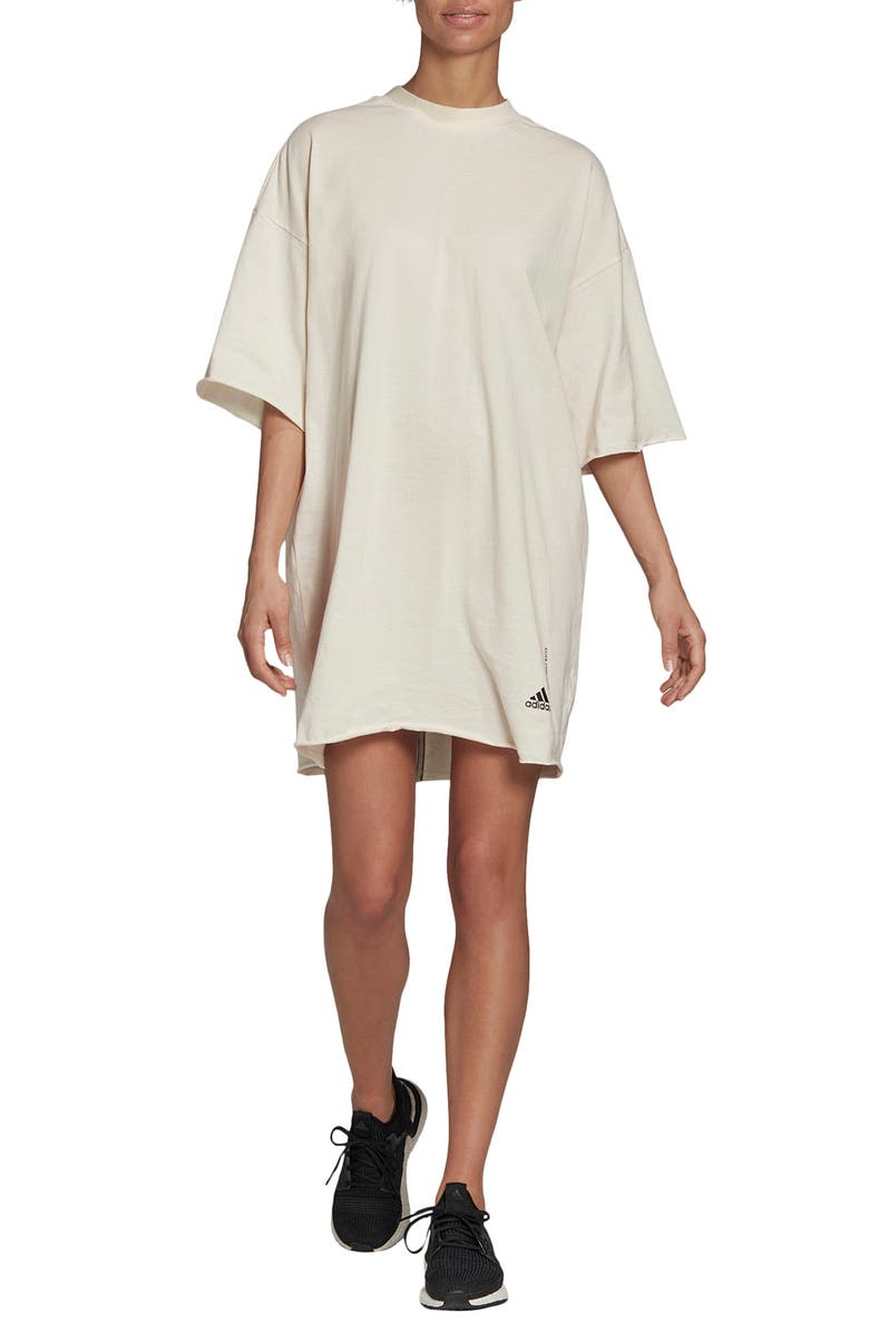 ADIDAS Must Haves T-Shirt Dress, Main, color, NON-DYED