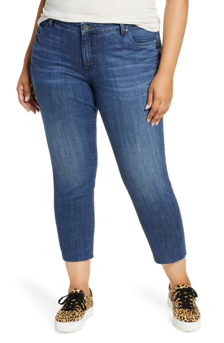 KUT FROM THE KLOTH Reese High Waist Straight Leg Ankle Jeans, Main, color, ACKNOWLEDGEMENT