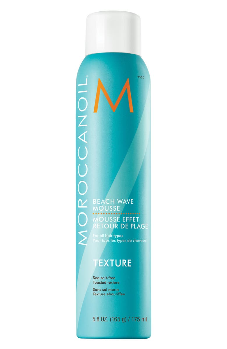 MOROCCANOIL<SUP>®</SUP> Beach Wave Mousse, Main, color, NO COLOR