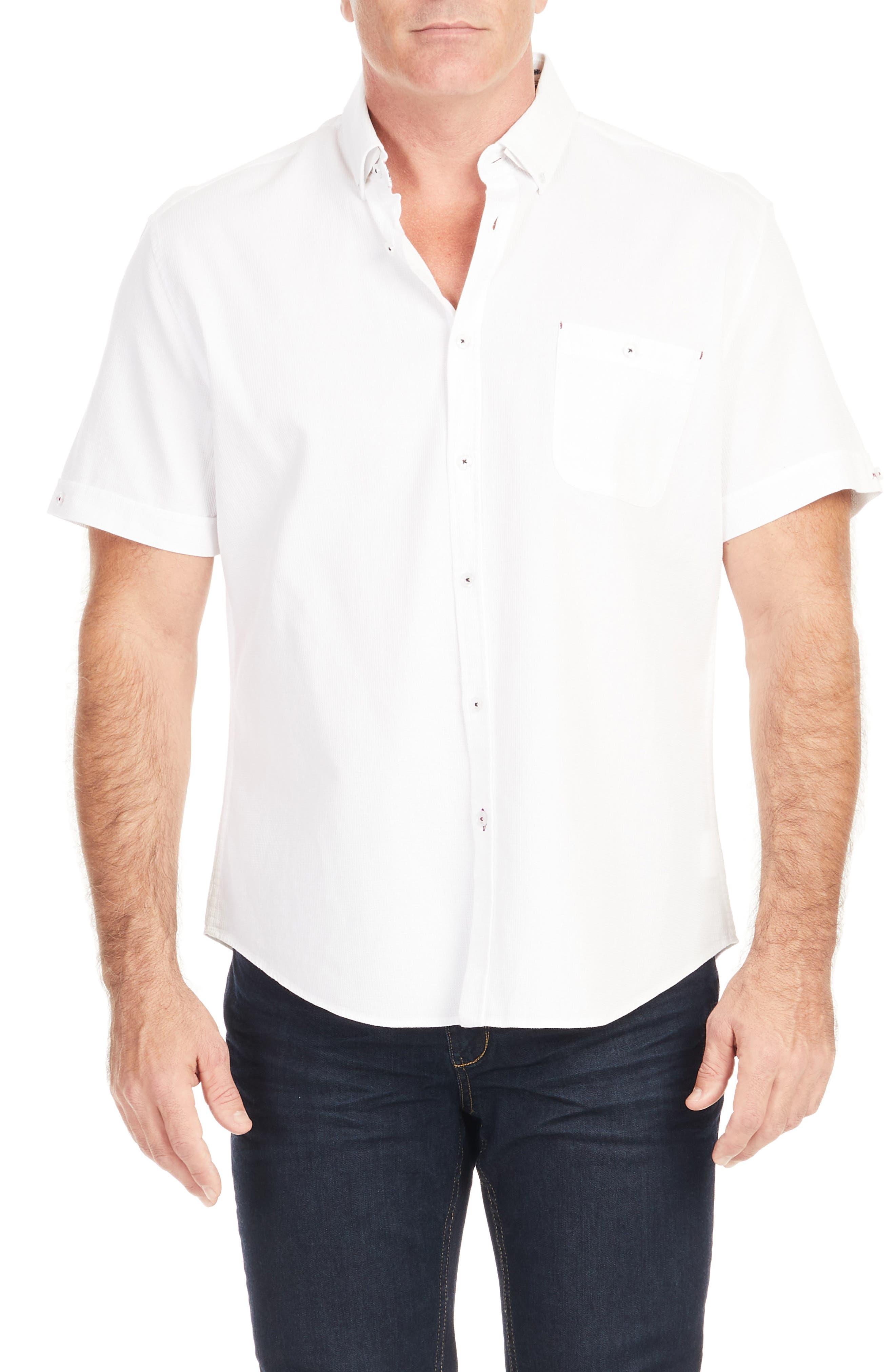 Men's Big & Tall Johnny Bigg Rodney Textured Short Sleeve Button-Down Shirt