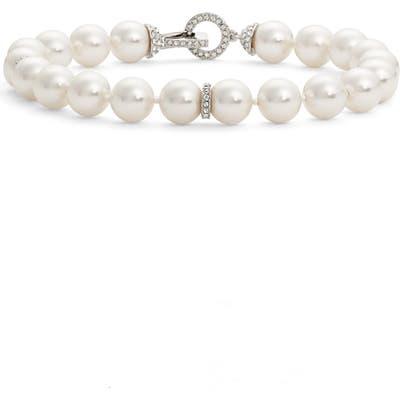 Nadri Single Row Imitation Pearl Bracelet
