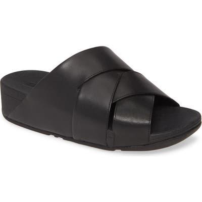 Fitflop Mocca Novaweave Slide Sandal, Black