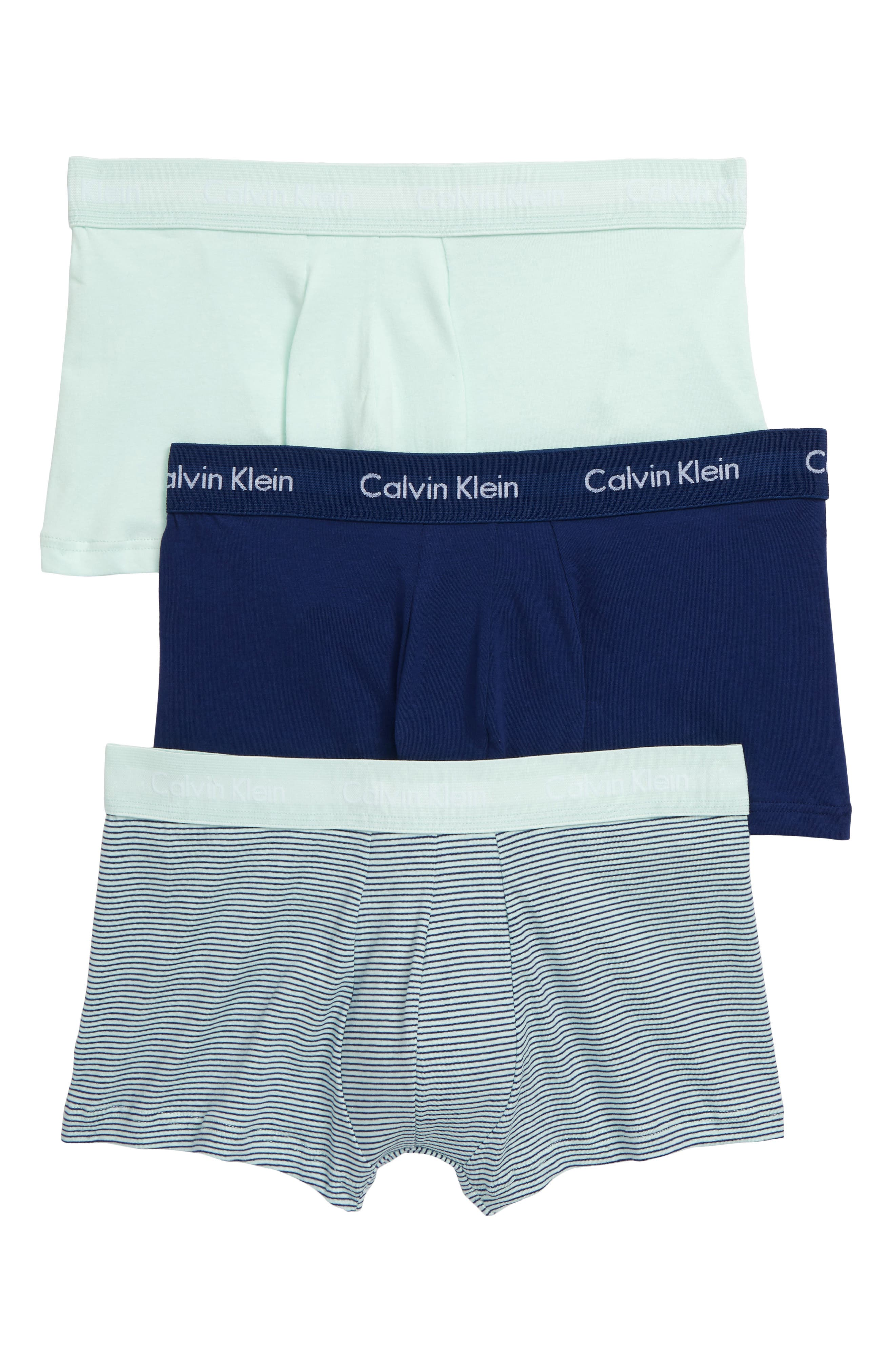 ,                             3-Pack Stretch Cotton Low Rise Trunks,                             Main thumbnail 26, color,                             407