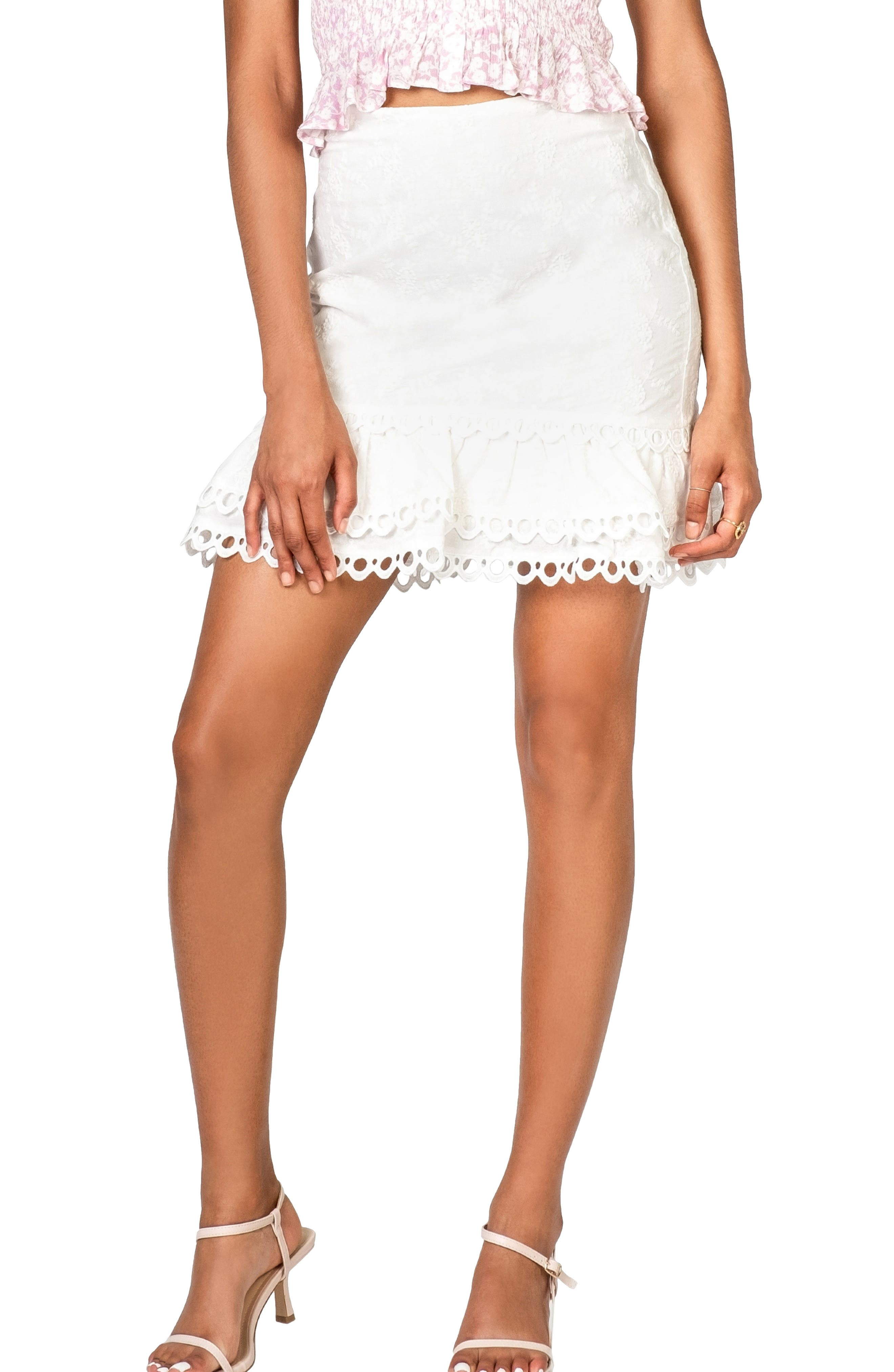 Women's Lost + Wander Angel In Disguise Lace Miniskirt