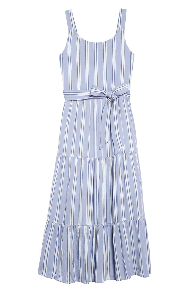 ZUNIE Chambray Stripe Maxi Dress, Main, color, BLUE WHITE STRIPE