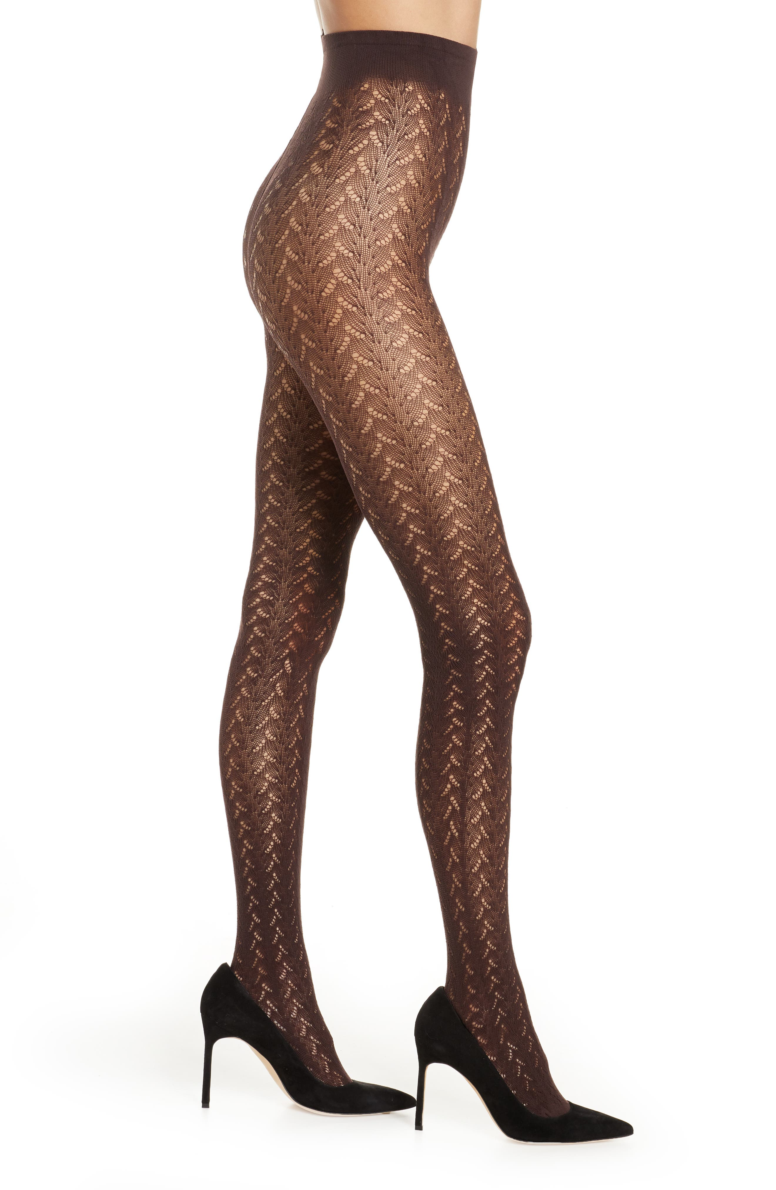 1960s Tights, Stockings, Panty Hose, Knee High Socks Womens Oroblu Openwork Tights $36.00 AT vintagedancer.com