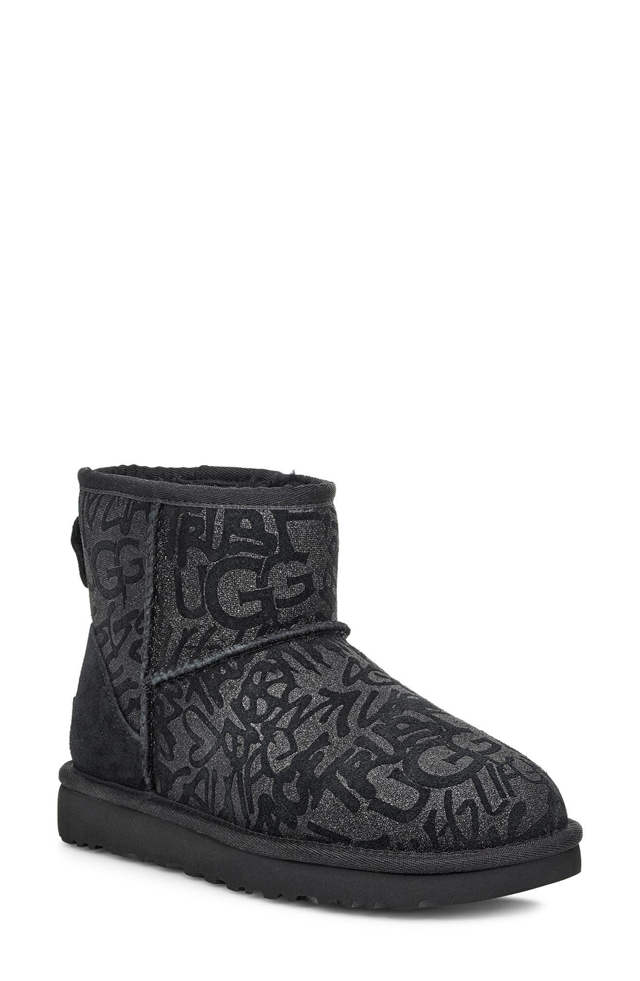 UGG® Classic Mini Sparkle Graffiti Boot (Women)