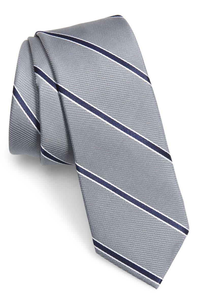 1901 Dawson Stripe Skinny Tie, Main, color, 040