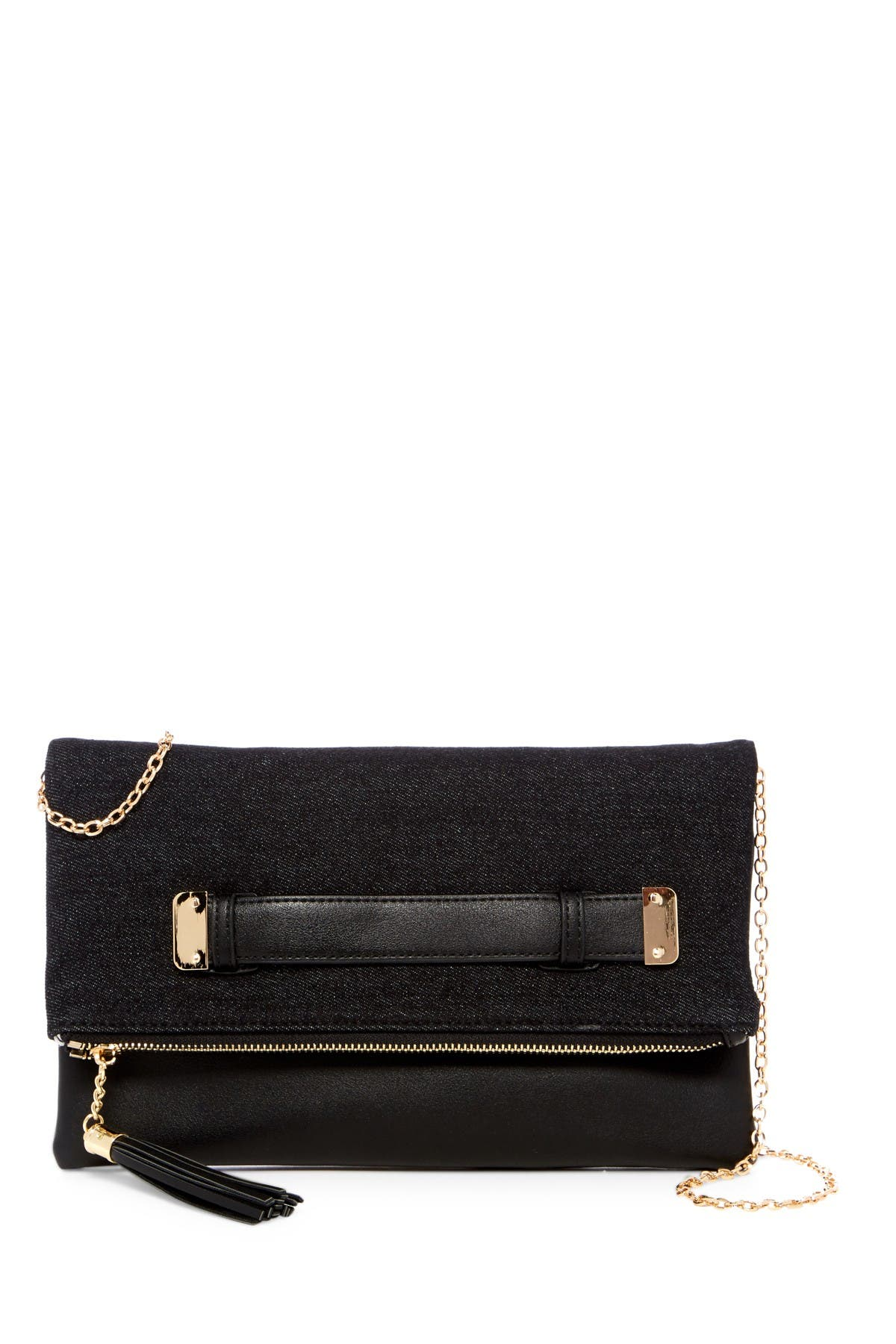 Image of Urban Expressions Slate Vegan Leather Clutch