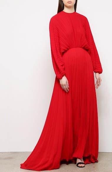 Soleil Plissé Silk Gown, video thumbnail