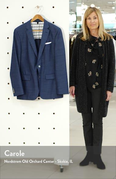Hartlay Trim Fit Solid Wool Sport Coat, sales video thumbnail