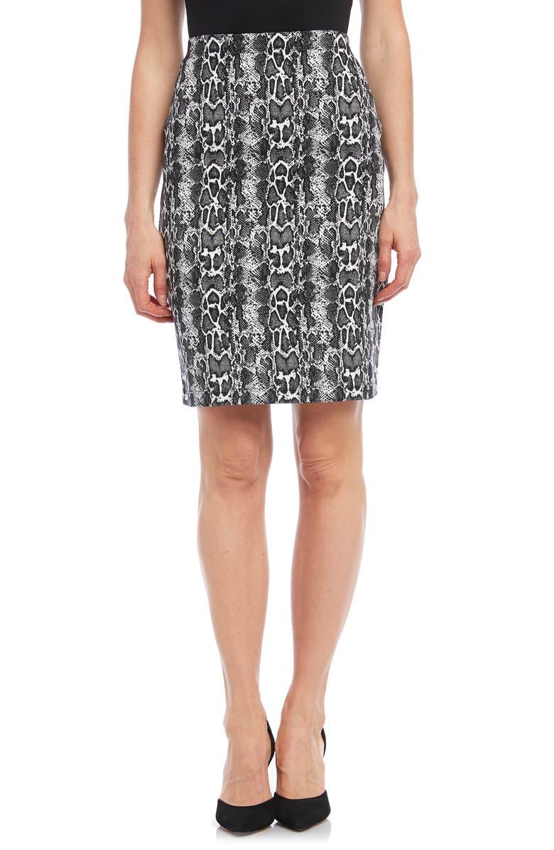 KAREN KANE City Skirt, Main, color, BLACK W/ WHITE