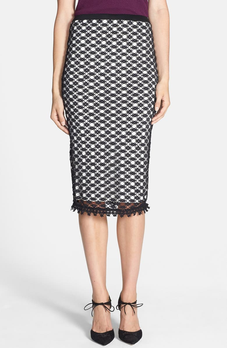 SEARCH FOR SANITY Textured Pencil Skirt, Main, color, 001