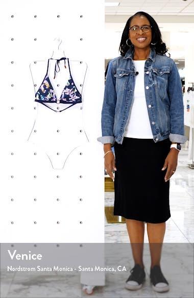 Watercolor Turtle Triangle Bikini Top, sales video thumbnail