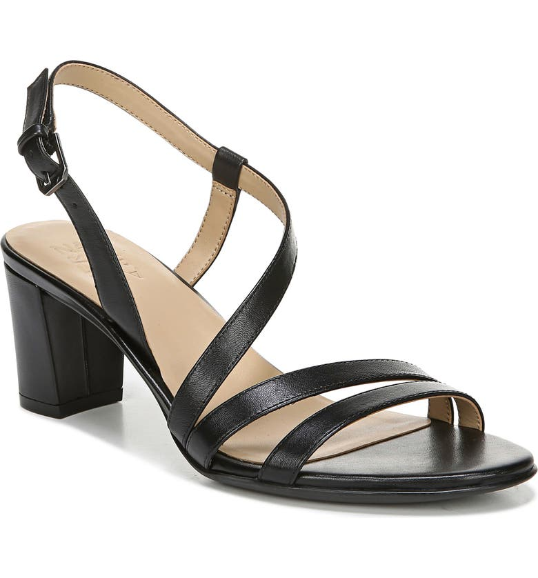 NATURALIZER Vanessa Sandal, Main, color, BLACK LEATHER