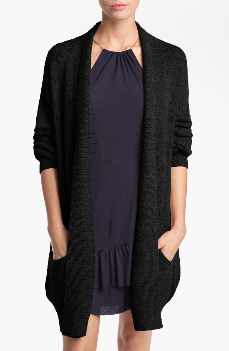 TILDON Bouclé Knit Robe Cardigan, Main, color, 001