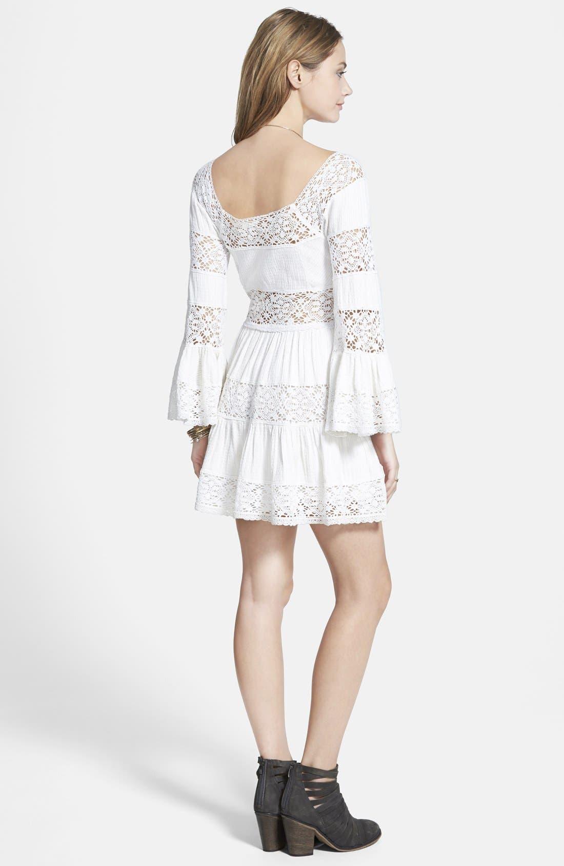 ,                             'Pippa' Gauze Fit & Flare Dress,                             Alternate thumbnail 8, color,                             900