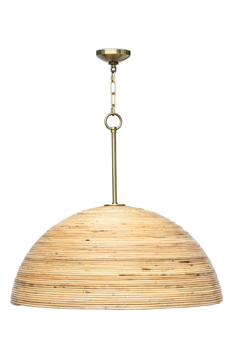 REGINA ANDREW Design Laguna Bamboo Pendant Light, Main, color, NATURAL BRASS