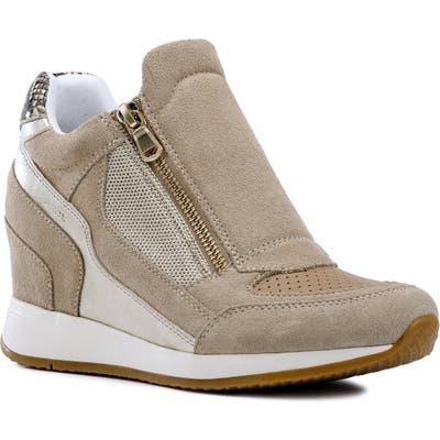 Geox Nydame Wedge Sneaker, Beige