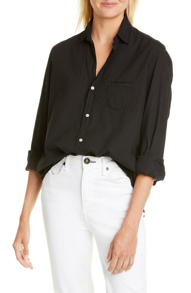 FRANK & EILEEN Eileen Cotton Poplin Shirt, Main, color, BLACK LIGHT POPLIN