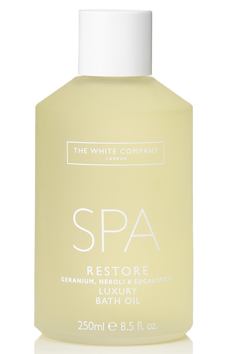 THE WHITE COMPANY Spa Restore Luxury Bath Oil, Main, color, WHITE