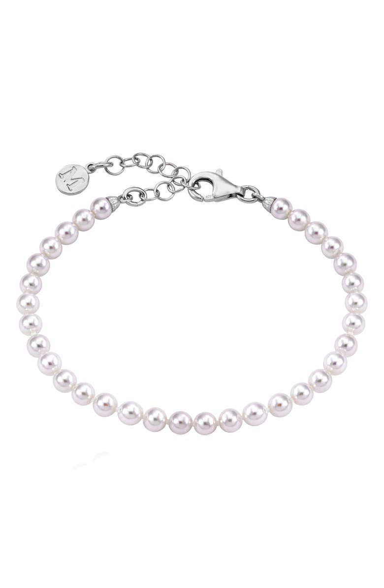 MAJORICA Simulated Pearl Bracelet, Main, color, WHITE